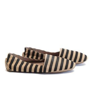 EILEEN FISHER || striped canvas slip on loafer